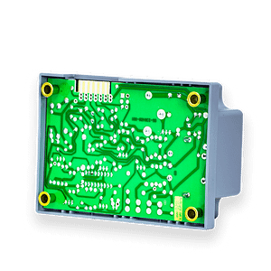 A detailed picture of a computer board for laundry equipment.