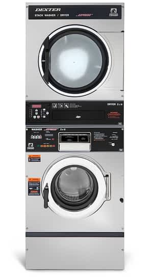 Dexter T-350 Washer Dryer Stack Product Image