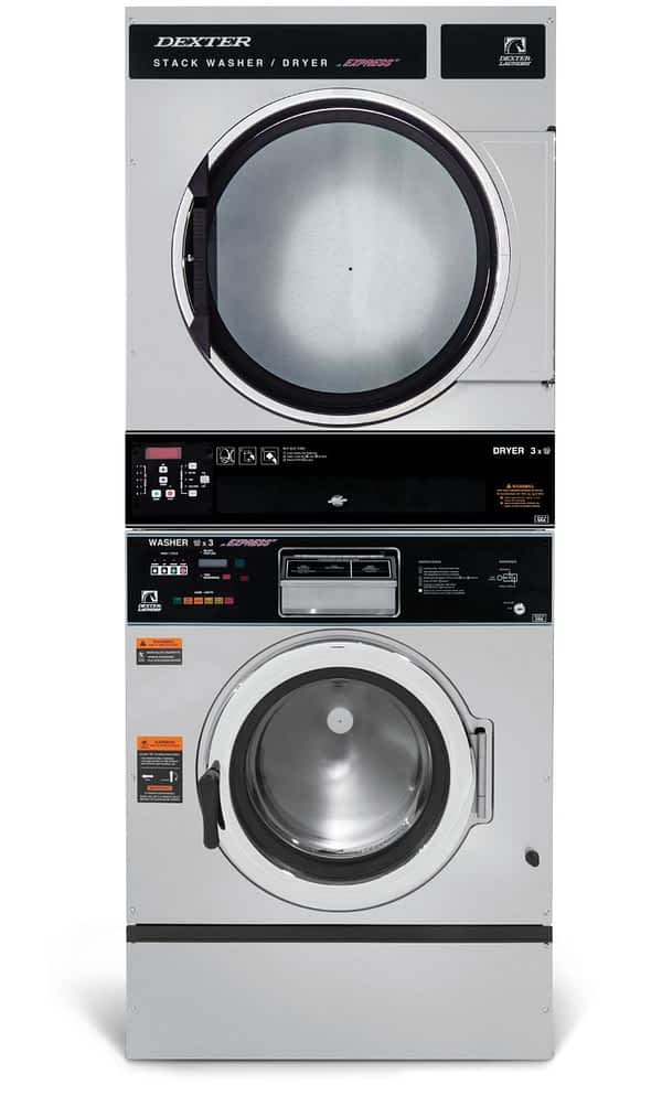 Dexter T-450 Washer Dryer Stack Product Image
