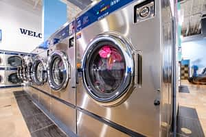 Picture of large dexter washers in PBA laundromat
