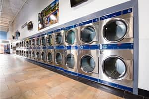 Picture of large dexter stack dryers in PBA laundromat