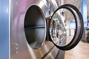 Picture of large dexter dryers in PBA laundromat